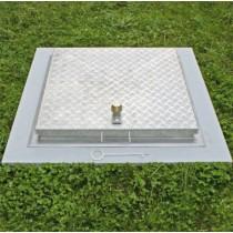Séria SA3 - štvorcový poklop z ryhovaného hliníkového plechu